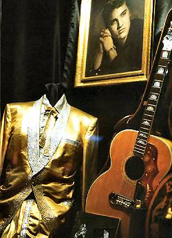 Portrait, beaded costume, guitar