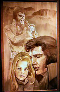 Portrait of Elvis and Lisa Marie