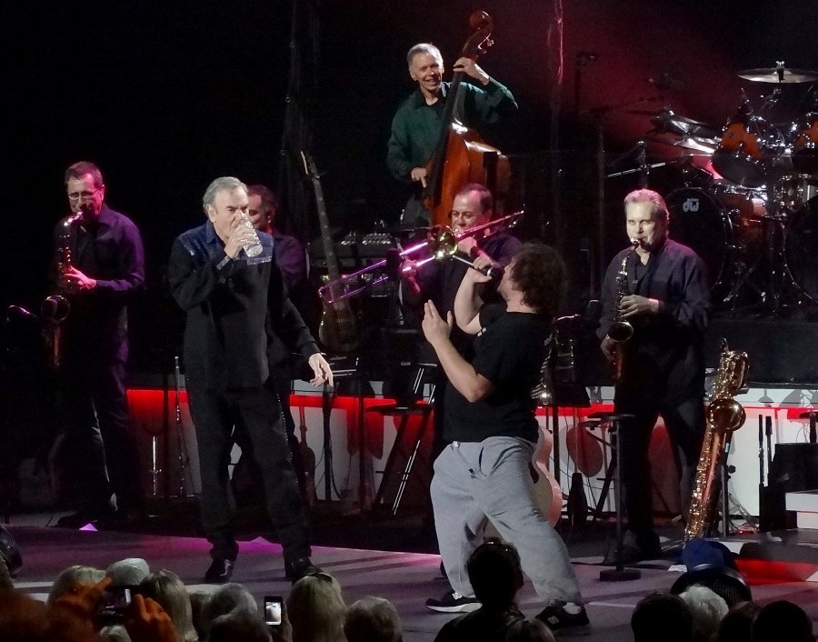 Neil Diamond and Jack Black singing Sweet Caroline at The Greek Theater Aug 23, 2012