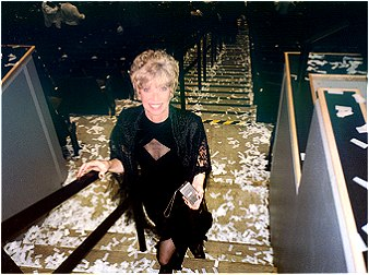 Me, heading for the post concert party, amid all the confetti.