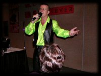 Nick McCullock, Neil Diamond Tribute Artist from the UK singing September Morn for the Diamondheads at the 2004 Chicago Neil Diamond Birthday Party