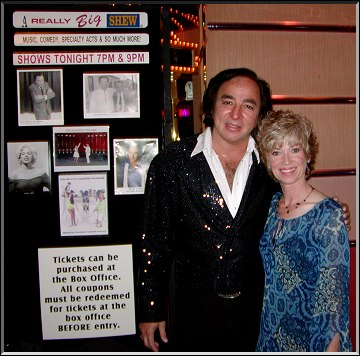 Tom Sadge and Toni McLaughlin outside the Flamingo Showroom in Laughlin, NV Photo by Dennis McLaughlin
