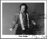 Autographed photo of Tom Sadge as Neil Diamond