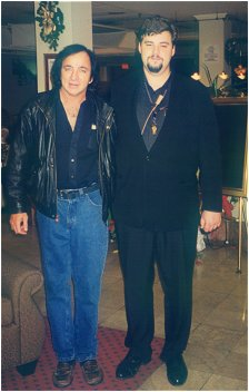 Tom Sadge with Neil Diamond's personal bodyguard