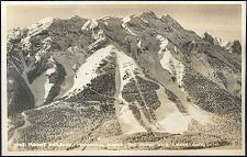 1065(a). Mt. Norquay. Downhill Slopes, Ski Jump and Chair Lift.