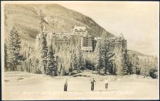 976. Banff Springs Hotel from Golf Course.