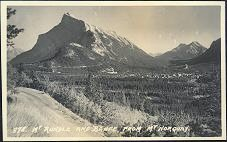 978. Mt Rundle and Banff from Mt Norquay.