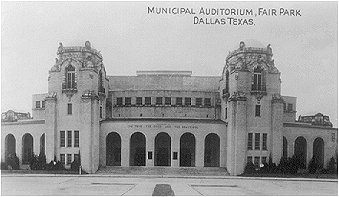 Municipal Auditorium, Fair Park, Dallas, Texas